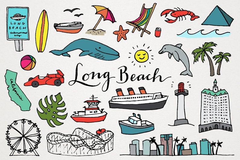 California clipart clip art. Long beach ca us
