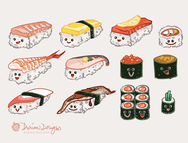 California clipart cute. Sushi clip art commercial