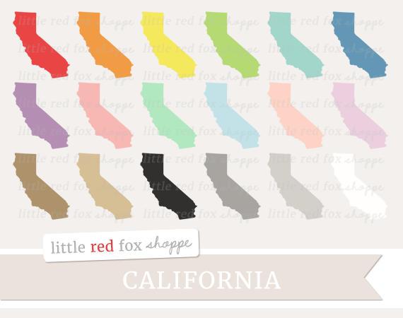 Us state clip art. California clipart cute