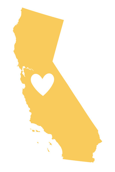 California heart. Clipart transparent free for