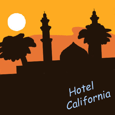Covers hotel by the. California clipart landmark
