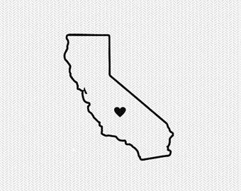 California heart. Clipart outline transparent free