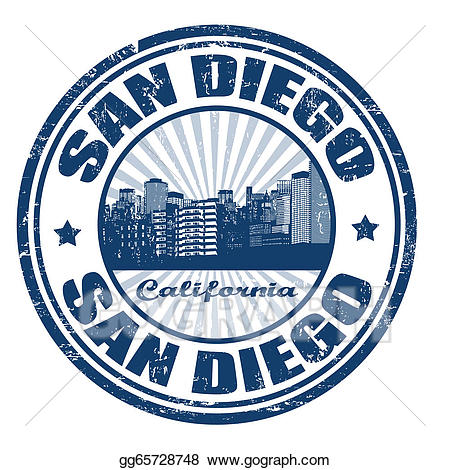 California clipart rubber stamp. Vector illustration with san