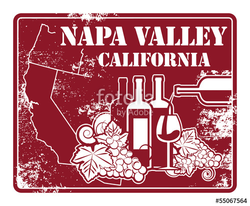 Grunge with words napa. California clipart rubber stamp
