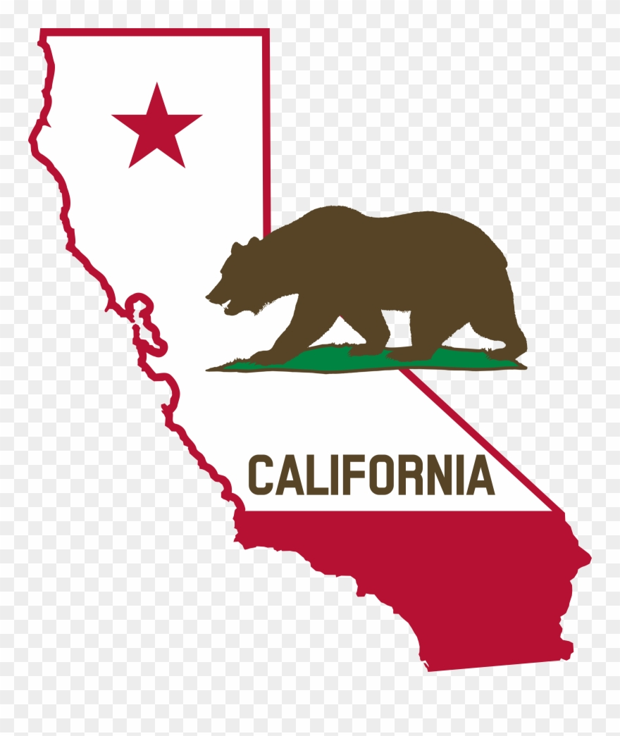 California clipart shape. Solid state of pinclipart