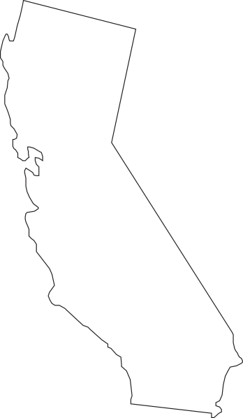 State silhouette at getdrawings. California clipart shape