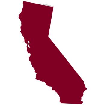 California clipart shape. Stickers i love noda