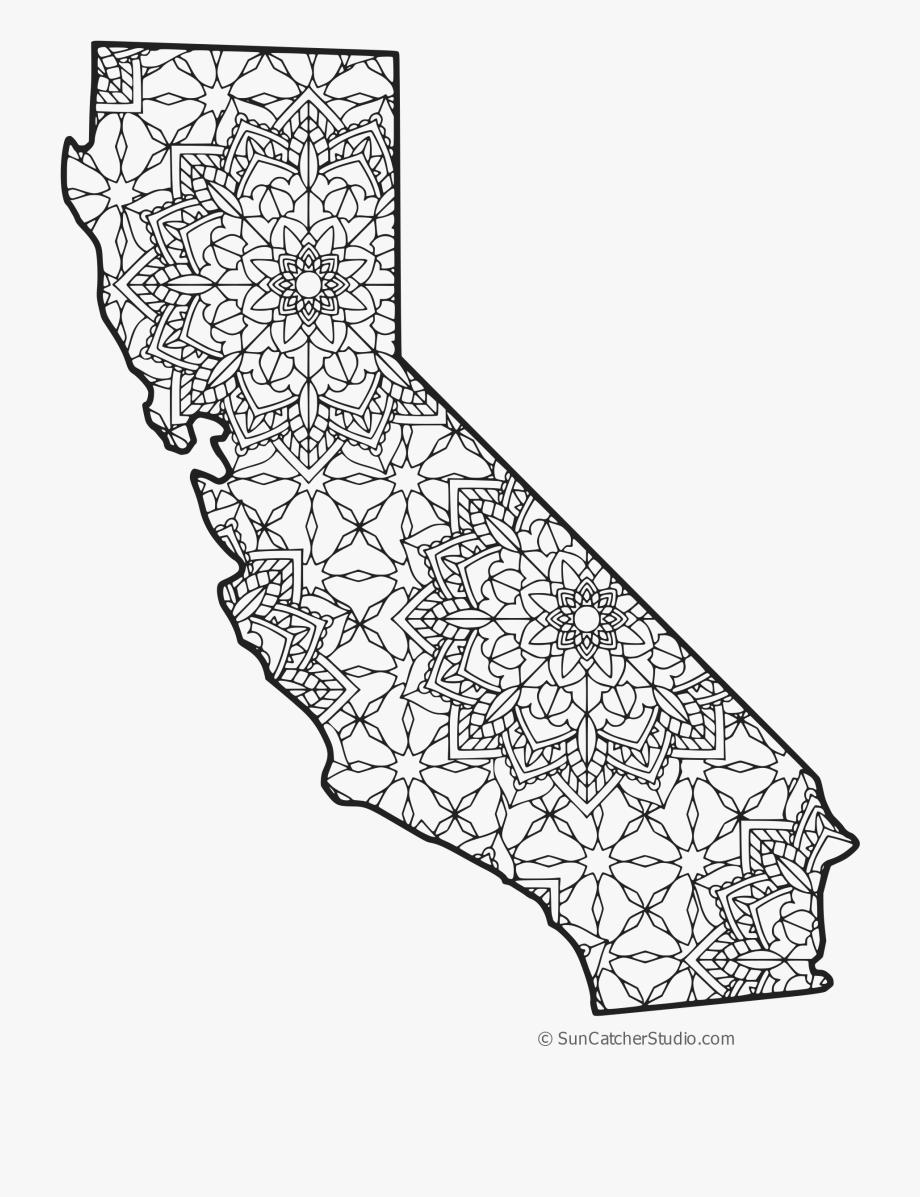 Png line art free. California clipart shape