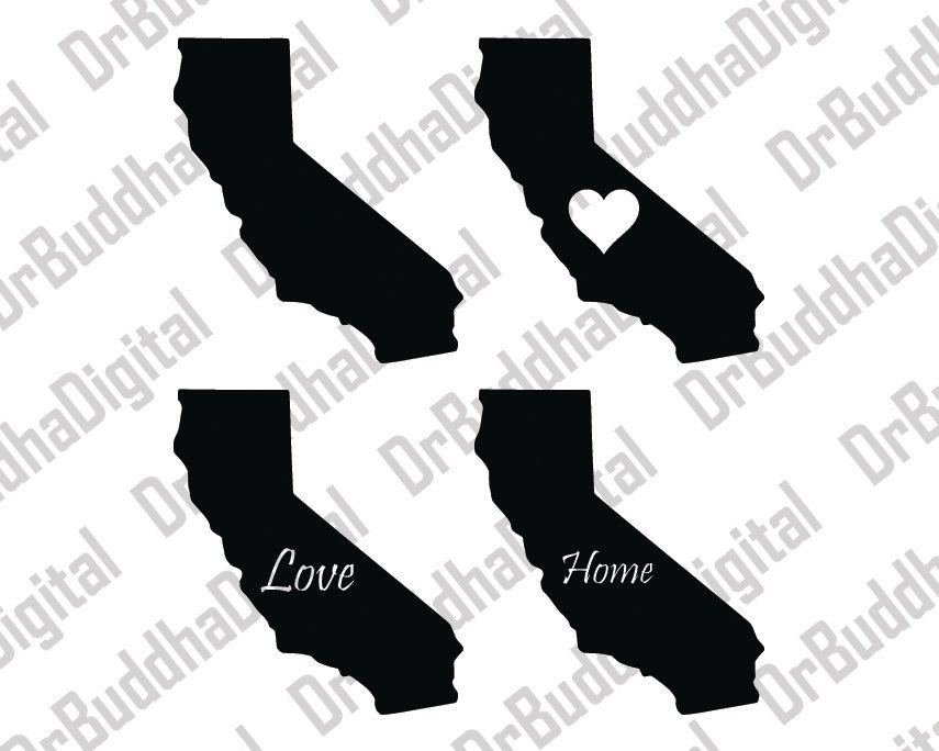 California clipart silhouette. Every family svg file