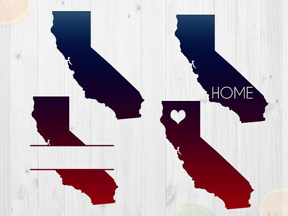 California clipart silhouette. Svg file state cut
