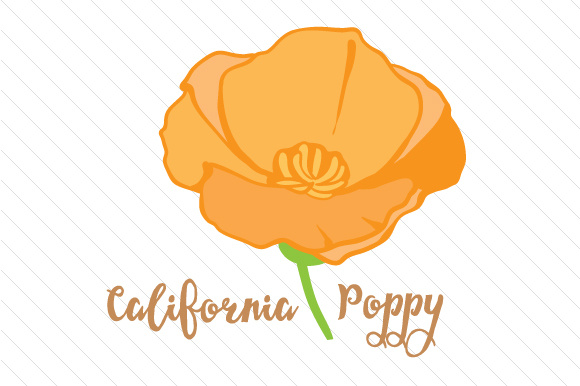 Svg cut file by. Poppy clipart state california flower