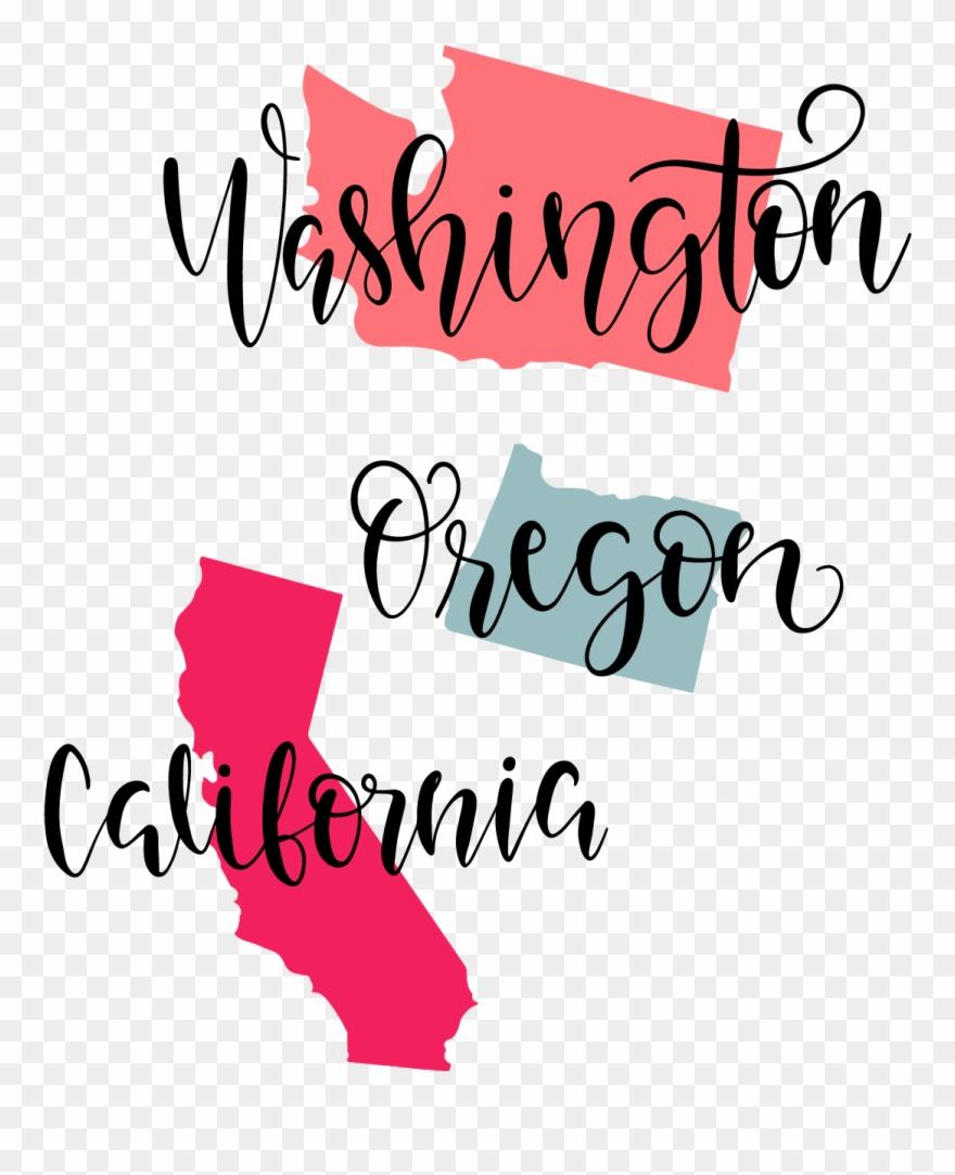 California clipart svg. Washington oregon image free