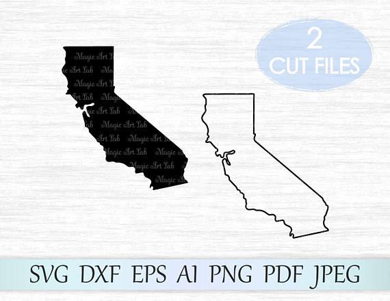 State silhouette . California clipart svg