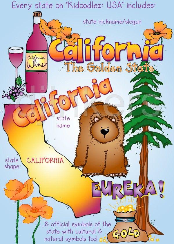 Clip art usa cute. California clipart symbol california