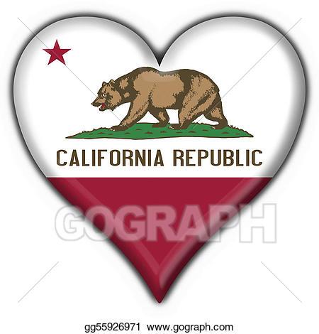 Stock illustration usa state. California clipart symbol california