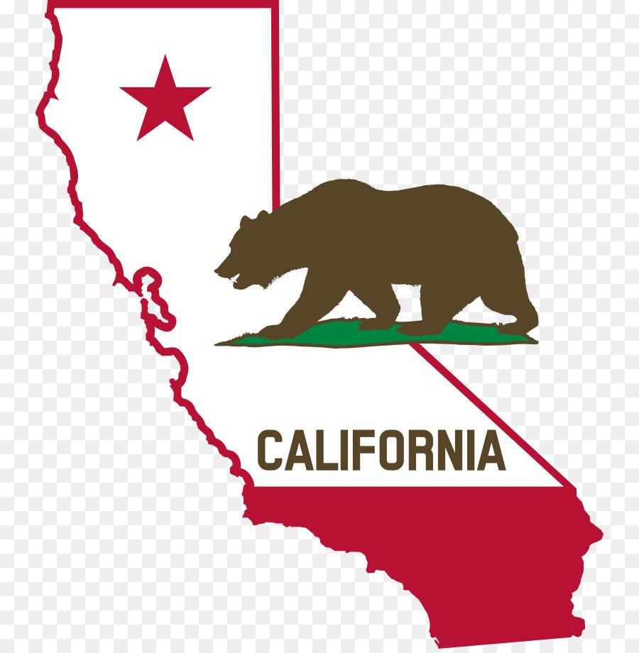 Bear text line clip. California clipart transparent