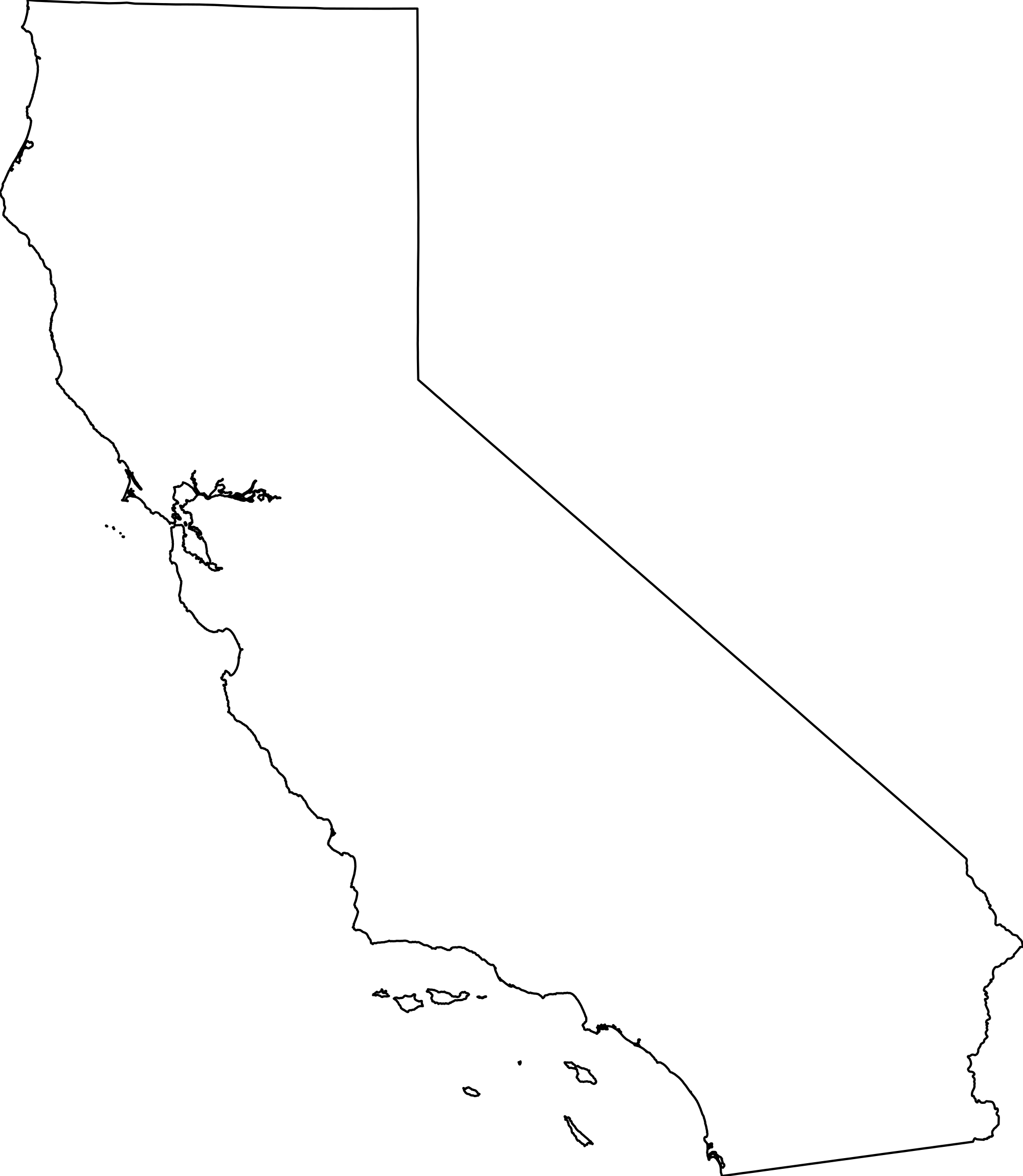 California map png transparent. Clipart road outline