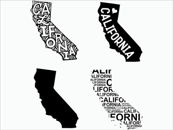 California clipart vector. Svg state cricut printable