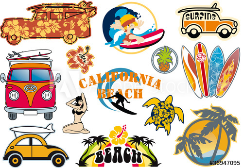 Beach cliparts buy this. California clipart vector