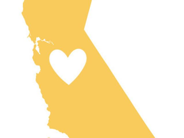 State x free clip. California clipart yellow