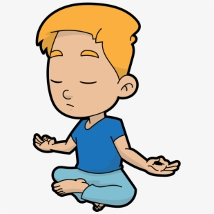 Meditation student sphere free. Calm clipart