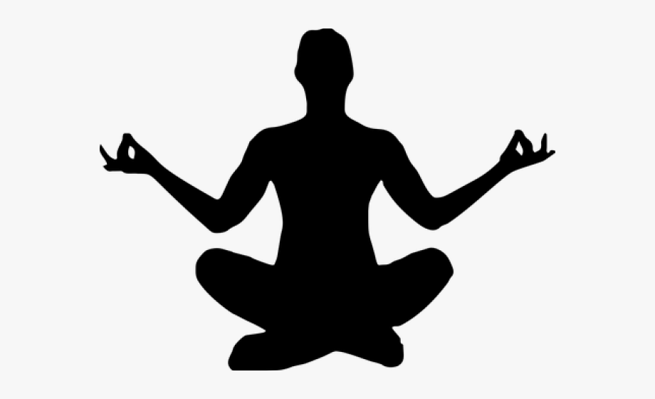 Calm clipart. Yoga silhouette transparent background