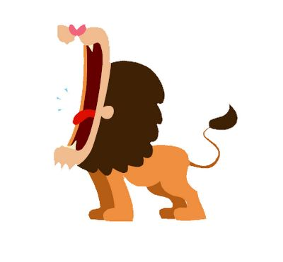 Calm clipart animated.  best lion images