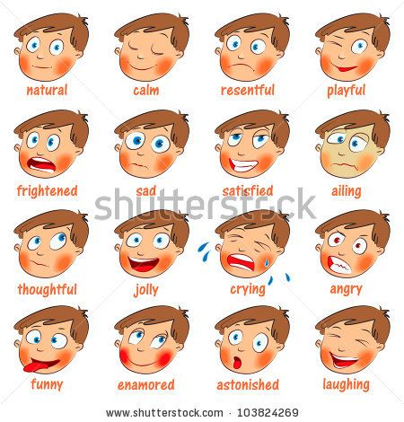 Calm clipart animated. Kids emotion faces emotions
