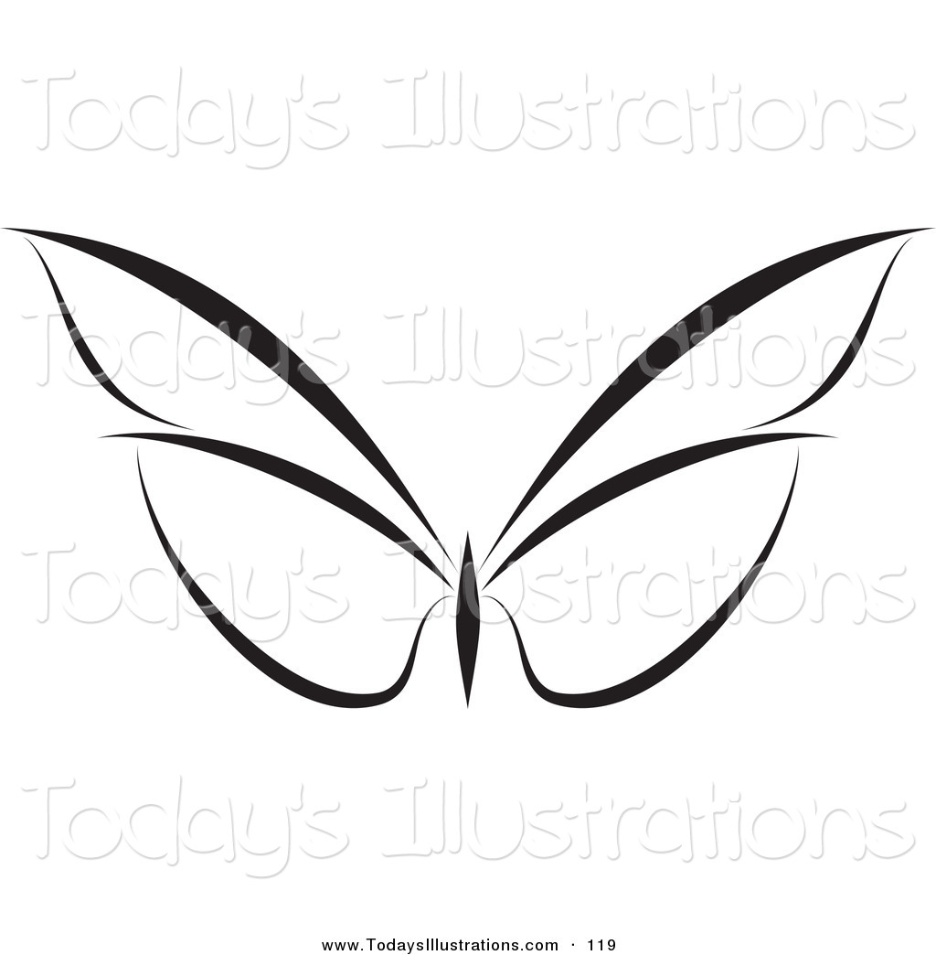 Of a butterfly logo. Calm clipart black and white