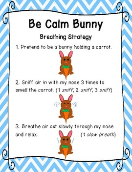Be bunny strategy posters. Calm clipart breathing technique