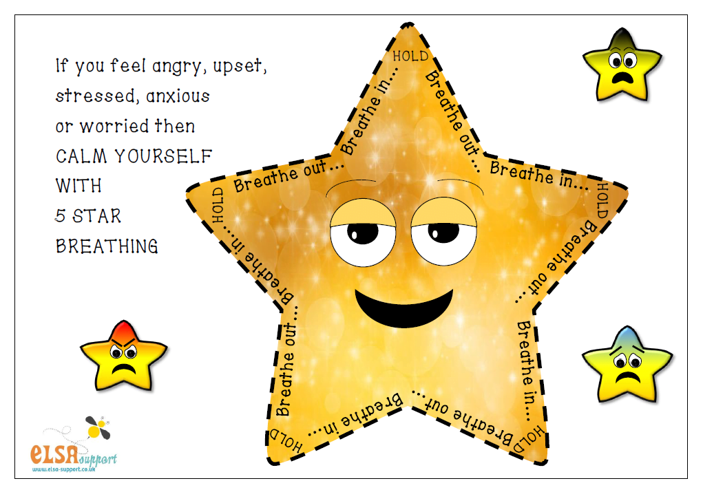 Calm clipart breathing technique.  star down exercise