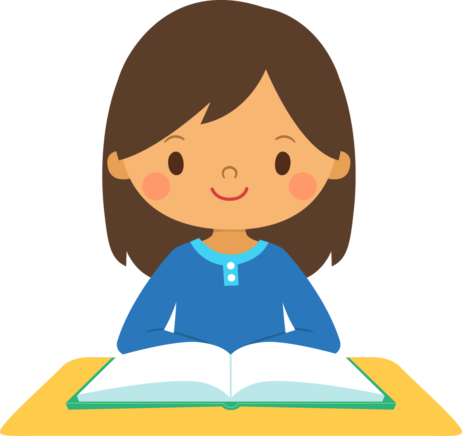 Beginning middle end for. Writer clipart calm student