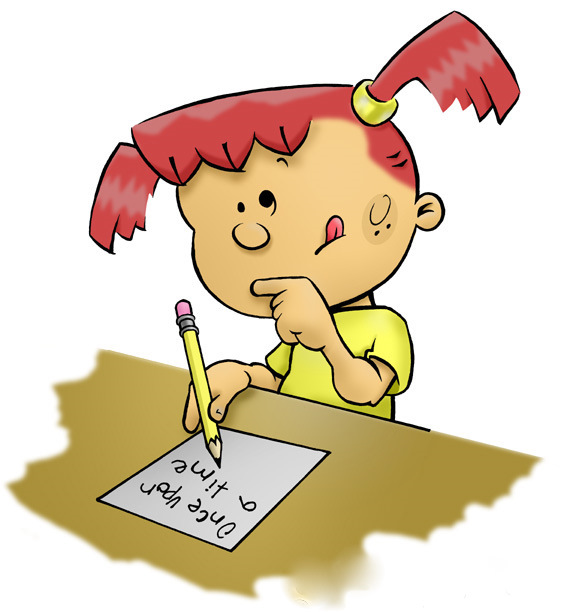 Learning to write k. Calm clipart calm girl