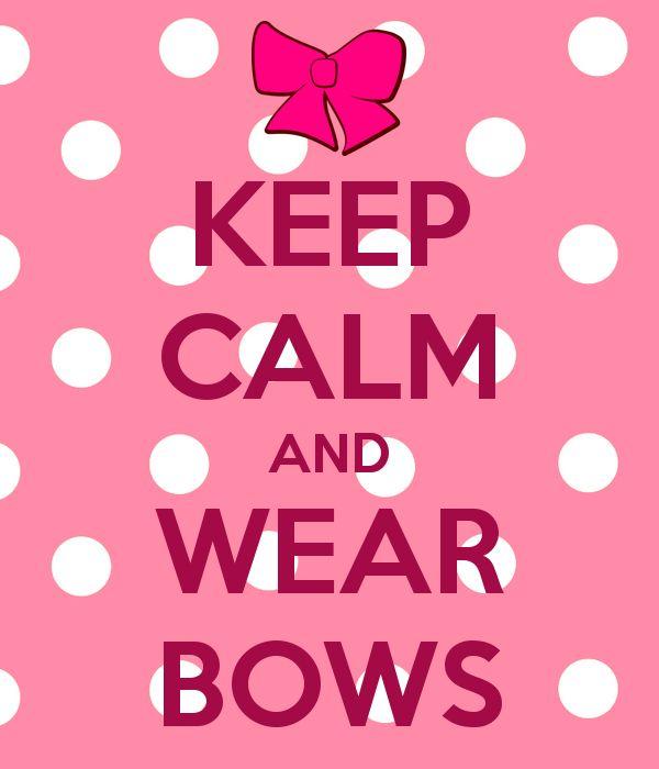 Keep and wear bows. Calm clipart calm girl