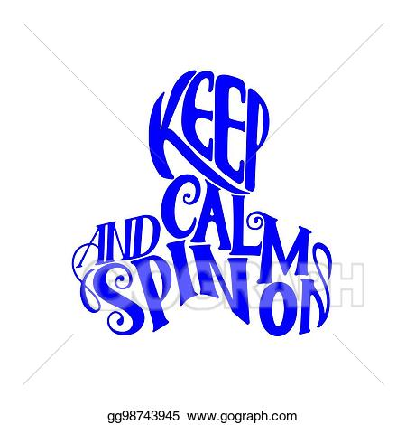 Calm clipart calm hand. Vector art lettering keep