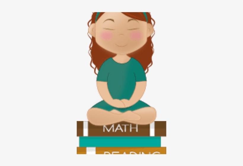 Calm clipart calm student. Meditation relaxing cartoon