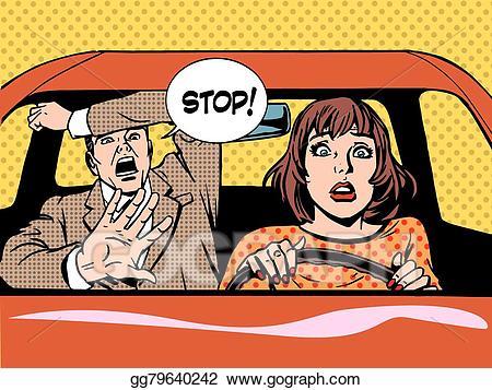Vector stock stop driver. Calm clipart calm woman