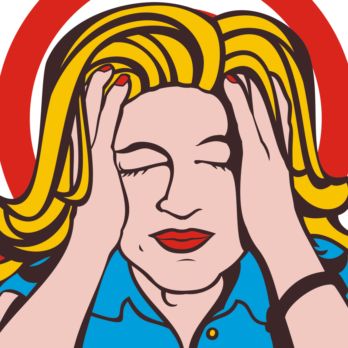 Calm clipart calm woman. Yes you can down