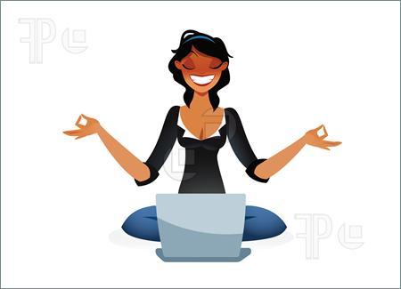 Zen . Calm clipart calm woman
