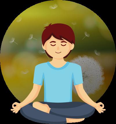 Meditation body png dlpng. Calm clipart calmness