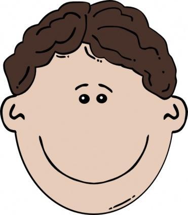 Body boy face. Calm clipart cartoon
