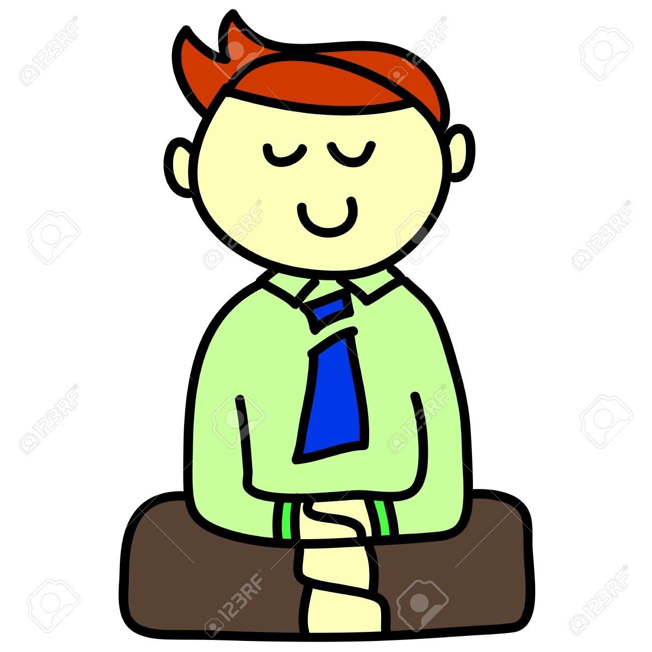 Boy with body . Calm clipart cartoon