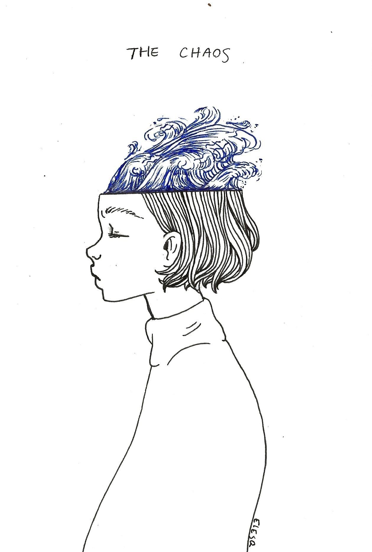 Calm clipart chaos. Ebriosity journal the mind