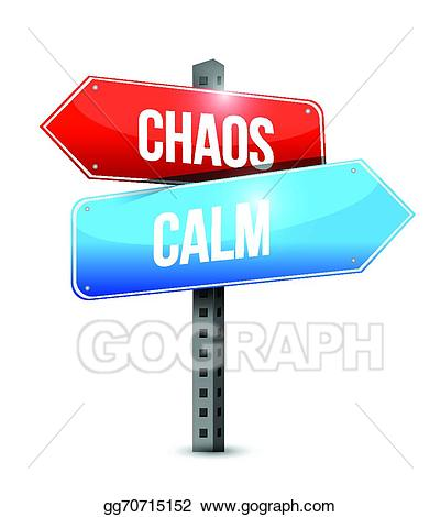 Calm clipart chaos. Vector stock and sign