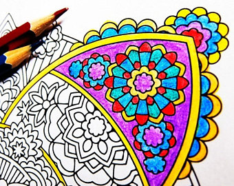 Calm clipart equanimity. Mandala coloring page upekkha