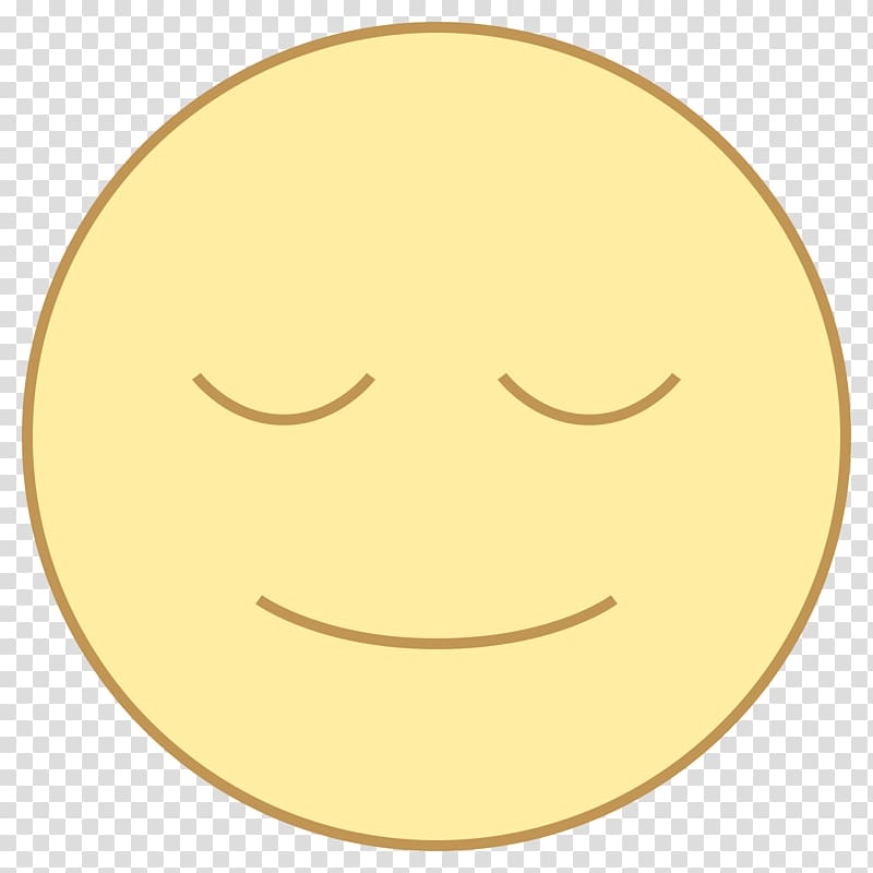 Emoticon smiley facial expression. Calm clipart face