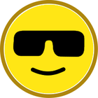 Smiley simple outlined yellow. Calm clipart face