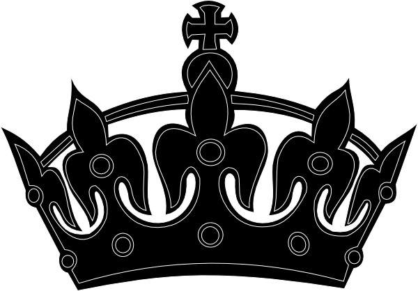 Black crown clip art. Calm clipart keep calm