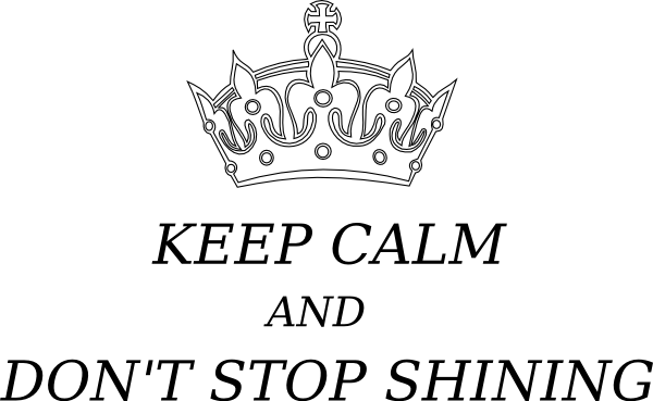 Crown clip art at. Calm clipart keep calm