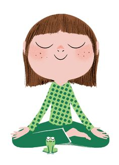 A mindful minute fun. Calm clipart kid meditation